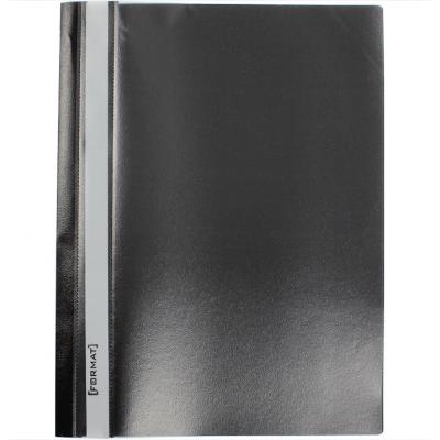 Папка-скоросшиватель А4 Format без перфорации, фактура апельсин, черная