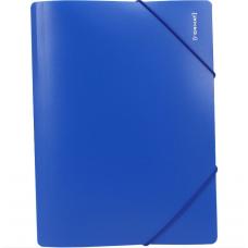 Папка пластиковая А4 на резинках Format, фактура апельсин, синяя