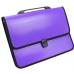 Портфель на застежке, фактура Вышиванка, фиолетовый - Фото 2