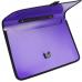 Портфель на застежке, фактура Вышиванка, фиолетовый - Фото 3