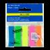 Закладки пластиковые, с клейким слоем NEON 45х12мм, 5x25 листов, ассорти - Фото 2