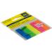 Закладки пластиковые, с клейким слоем NEON 45х12мм, 5x25 листов, ассорти - Фото 5