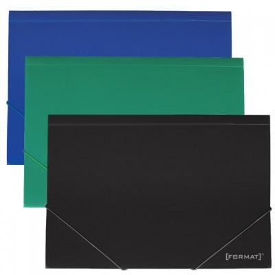 Папка пластиковая А4 на резинках Format, фактура апельсин, ассорти