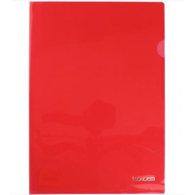 Папка-уголок А4  Economix плотная под нанесение, красная