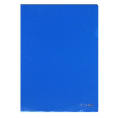 Папка-уголок А4  Economix плотная под нанесение, синяя