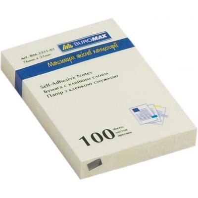 Блок для заметок 51х76 мм 100 лист., желтый