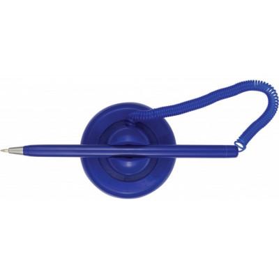 Ручка шариковая на подставке Post pen синий