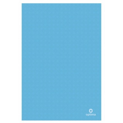 Папка уголок А4 Оптима, 180 мкм, фактура, Вышиванка голубая
