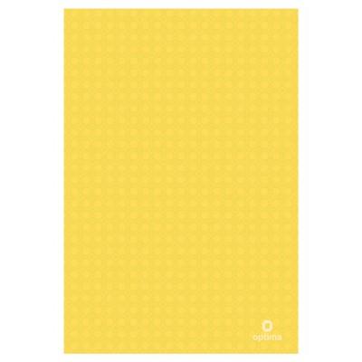 Папка уголок А4 Оптима, 180 мкм, фактура, Вышиванка, желтая