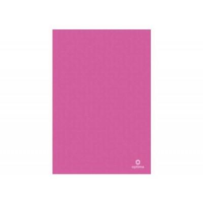 Папка уголок А4 Оптима, 180 мкм, фактура, Вышиванка, розовая