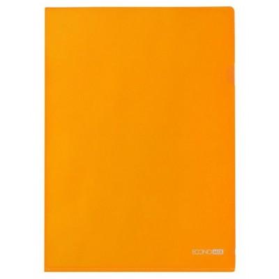 Папка уголок А4 Економикс, 180 мкм, фактура глянец, оранжевая.