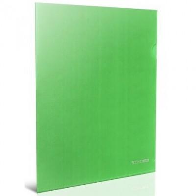 Папка куточок А4 Економікс, 180 мкм, фактура глянець, зелена