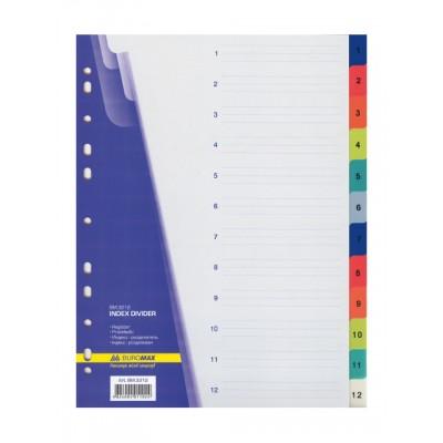 Разделитель index цифры 1-12 Buromax