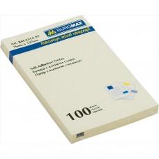 Блок для заметок 76х127 мм, 100 листов, желтый