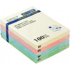 Блок для заметок Buromax 76х102 мм, 100 лист., ассорти