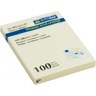 Блок для заметок Buromax 76х102 мм, 100 лист., желтый