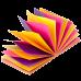 Блок для записей Buromax 76х76 мм, 100 листов., гирлянда, неон (4 кол 25 листов) - Фото 3