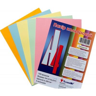 Бумага А4 Mini ассорти, средняя, 100 листов