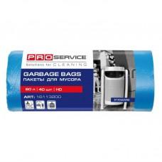 PRO Пакет для мусора полиэтиленовый 60х80 синий ХД 60л/40шт