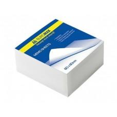 Блок белой бумаги для заметок BuroMax 80х80х50мм, не скл