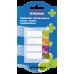 Закладки пластиковые Donau с клейким слоем 4 кол*20 лист, 45x12 мм, прозрачные - Фото 4