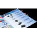 Закладки пластиковые Donau с клейким слоем 4 кол*20 лист, 45x12 мм, прозрачные - Фото 6