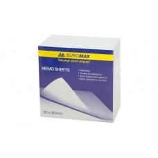 Блок белой бумаги для заметок BuroMax 90х90х50 мм, не скл