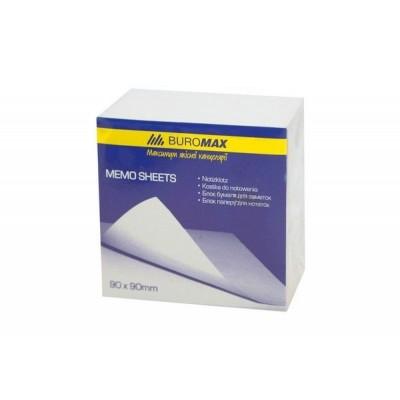 Блок белой бумаги для заметок BuroMax 90х90х50 мм, скл
