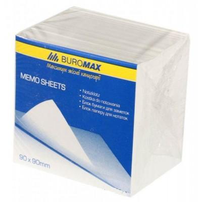 Блок белой бумаги JOBMAX BuroMax для заметок 90х90х70 мм, не скл