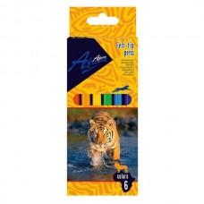 Фломастери Animal story, 6 кольорів, Economix