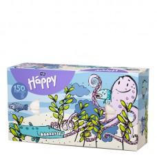 Платки бумажные универсальные двухслойные Bella Baby Happy (100 + 50шт. Осьминог)