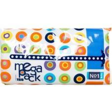 Платки бумажные УНИВЕРСАЛЬНЫЕ двухслойные Bella №1 Mega Pack (100 + 50 шт.)