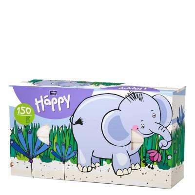 Платки бумажные универсальные двухслойные Bella Baby Happy (100 + 50шт. Слон)