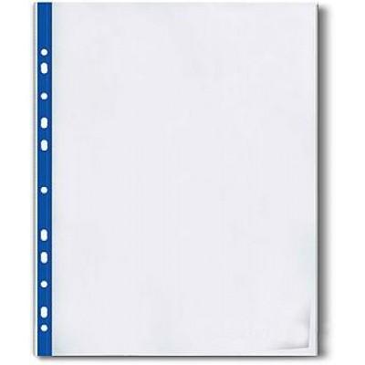 Файл А4 з синьою стрічкою 40 мкм Оптима  20шт