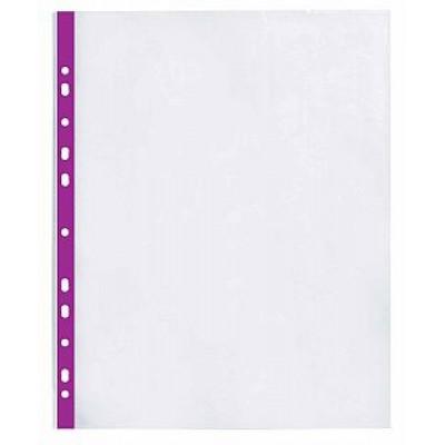 Файл А4 з фіолетовою стрічкою 40 мкм Оптіма 20шт