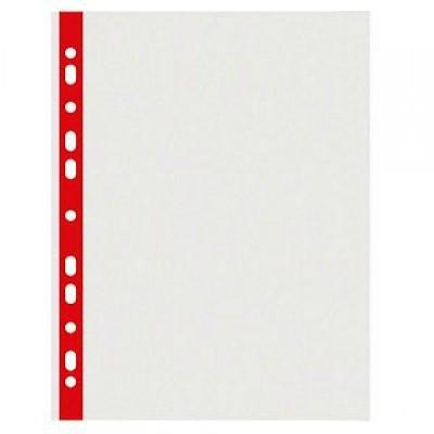 Файл для документів А4 40 мкр з червоною стрічкою Оптіма 20 шт