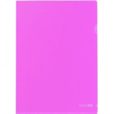 Папка уголок А4 Экономикс, 180 мкм фактура глянец розовая