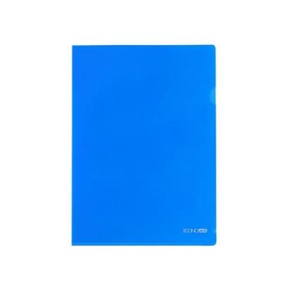 Папка уголок А4 Экономикс, 180 мкм фактура глянец синяя