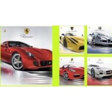 Тетрадь школьная авто sport car 12 листов, в ассортименте
