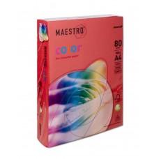 Бумага А4 Maestro Color CO44 (кораллово-красный)