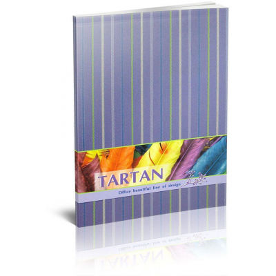 Блокнот «Тартан» А5, термобиндер, 80 листов, клетка, фиолетовый