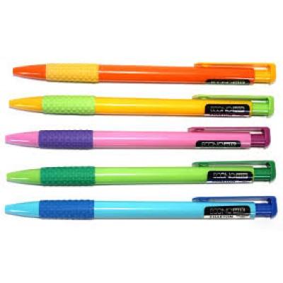 Ручка шариковая автомат Economix PHAETON, корпус ассорти, синяя паста