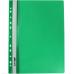 Папка-скоросшиватель А4 Economix с перфорацией, фактура апельсин, зеленая - Фото 2