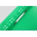 Папка-скоросшиватель А4 Economix с перфорацией, фактура апельсин, зеленая - Фото 3