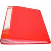 Папка с 60 файлами A4 JOBMAX, красный BM3621-05