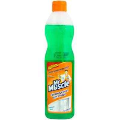 Жидкость для мытья стёкл Мистер Мускул без распылителя 500мл