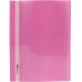 Папка-скоросшиватель А4 Economix без перфорации, фактура глянец, розовая - Фото 2