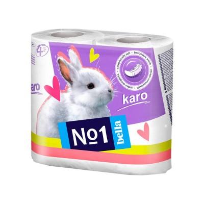 Туалетная бумага Bella Karo 4 шт упаковка