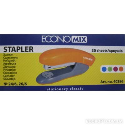 ECONOMIX степлер №24/6, 26/6 30 листов оранжевый