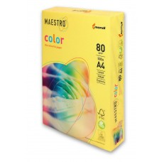 Бумага A4 Maestro color желтый CY39